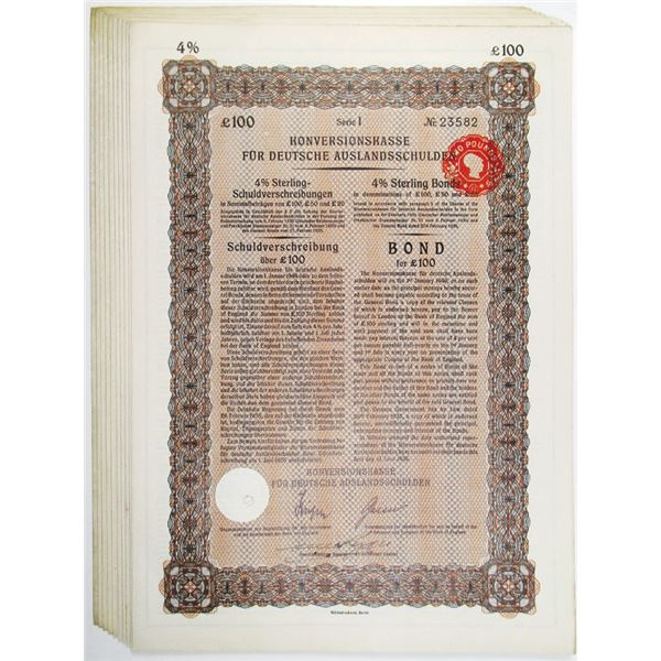 Konversionskasse, Germany Foreign Debt, 1935 Issued Group of 10