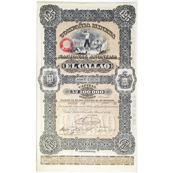 Compania Minera Nacional Anonima 1887 I/U Bond