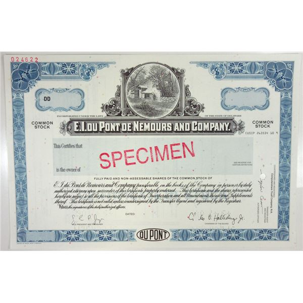 E.I. du Pont de Nemours & Co., 2006 Odd Shrs Specimen Stock Certificate