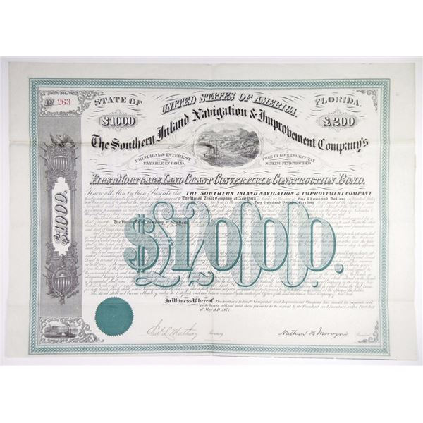 Southern Inland Navigation & Improvement Co., 1871 I/U Bond