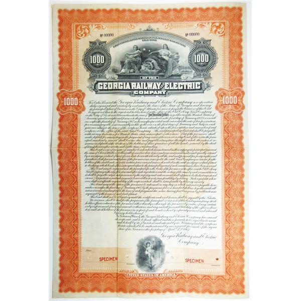 Georgia Railway and Electric Co., 1902 Specimen Bond