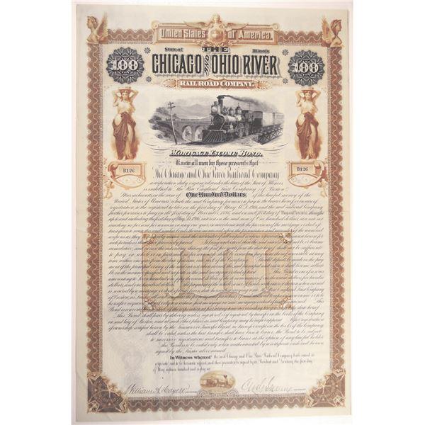 Chicago and Ohio River Railroad Co., 1886 I/U Bond.