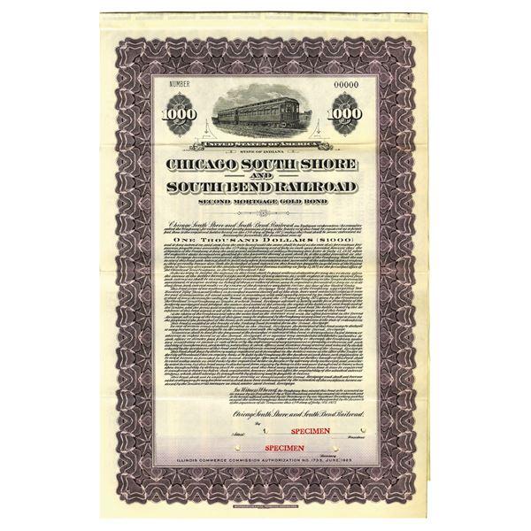 Chicago South Shore and South Bend Railroad, 1925 Specimen Bond