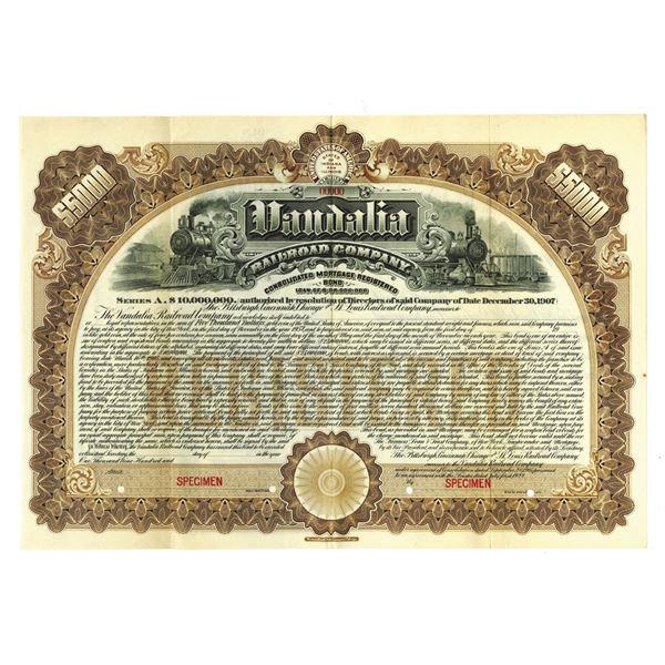 Vandalia Railroad Co., 1922 Specimen Bond