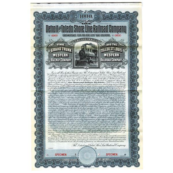 Detroit and Toledo Shore Line Railroad Co., 1903 Specimen Bond
