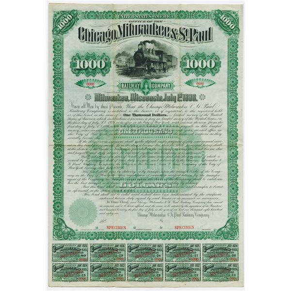 Chicago, Milwaukee & St. Paul Railway Co., 1886 Unique Specimen Bond in the ABN Archives.
