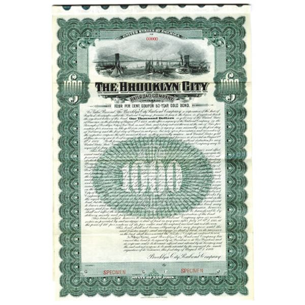 Brooklyn City Railroad Co., 1906 Specimen Bond