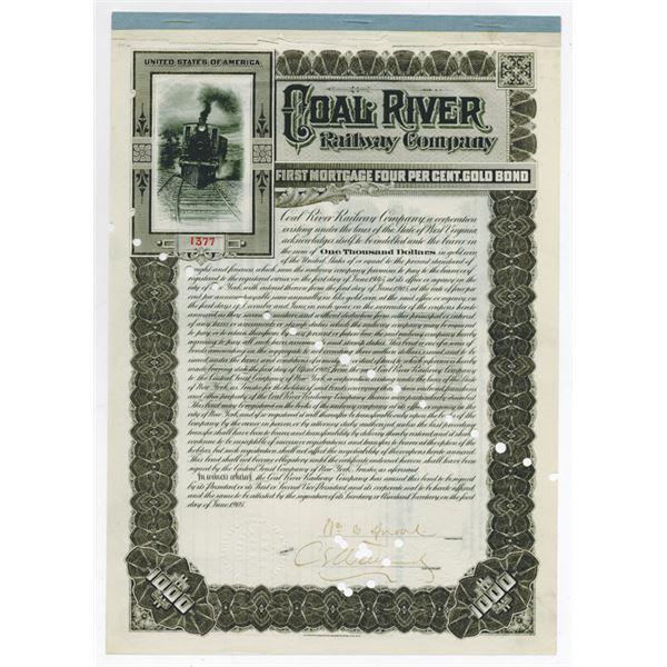 Coal River Railway Co. 1905. I/C Bond.