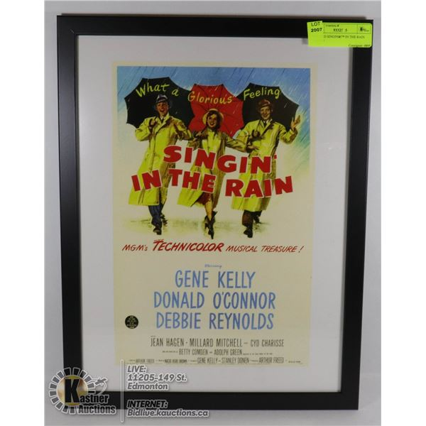 FRAMED SINGING IN THE RAIN POSTER 12 X 16 MOVIE POSTER PRINT