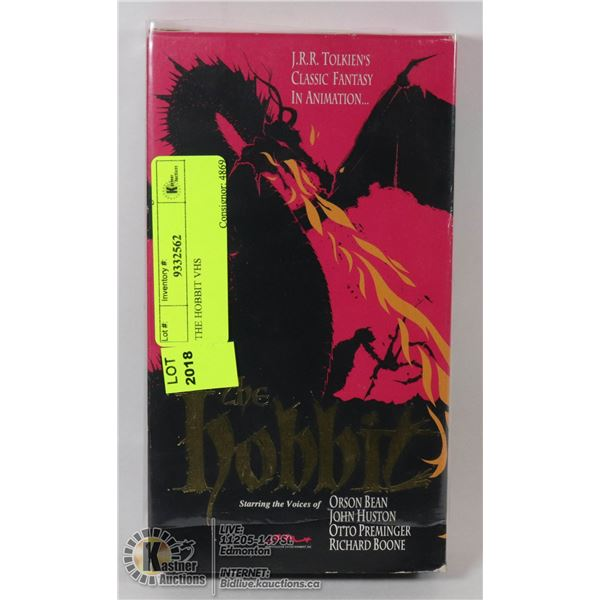 THE HOBBIT VHS RARE OUT OF PRINT ANIMATED VERSION OF THE TOLKIEN STORY FEATURING JOHN HUSTON- NONE