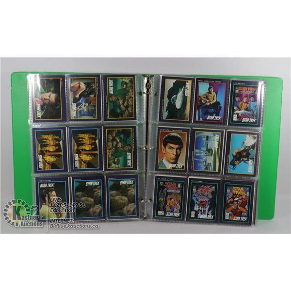 COLLECTION OF ASSORTED STAR TREK ORIGINAL AND NEXT GENERATION COLLECTOR CARDS. (107 ORIGINAL, 81 NEX