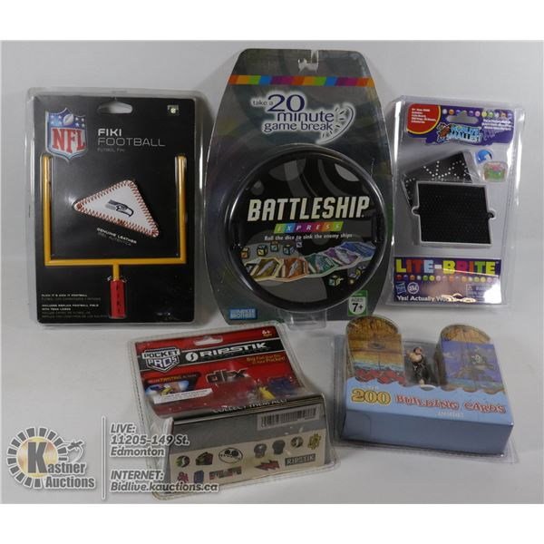 SEALED ITEMS MINI HANDHELD WORLDS SMALLEST LIGHT BRIGHT, KLUTZ HOW TO BUILD PIRATE SHIPS 200 BUILDIN