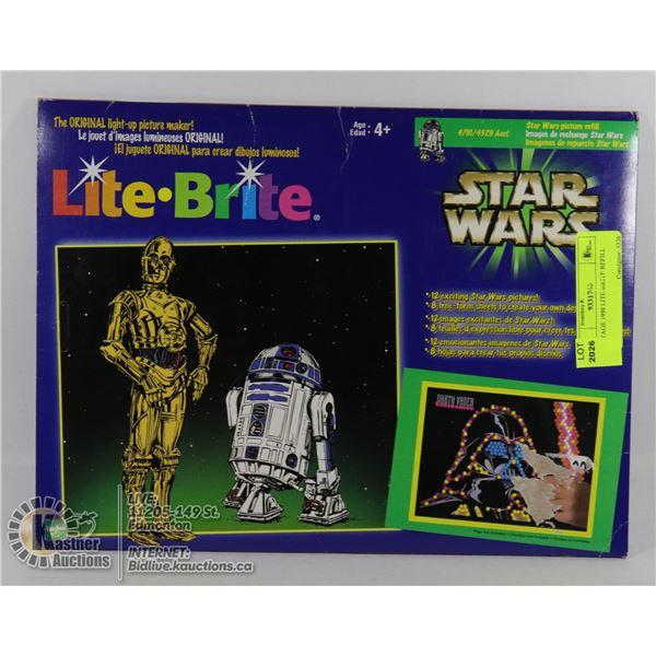 VINTAGE 1998 LITE-BRITE REFILL SHEETS STAR WARS ORIGINAL (NEW IN PACKAGE)