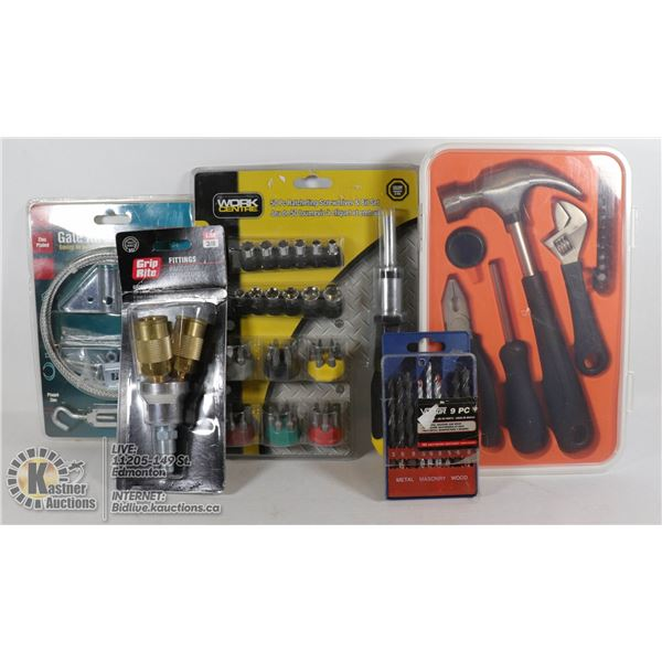 NEW ITEMS GATE KIT, 50 PC RATCHING SCREWDRIVER & BITS SET & MORE