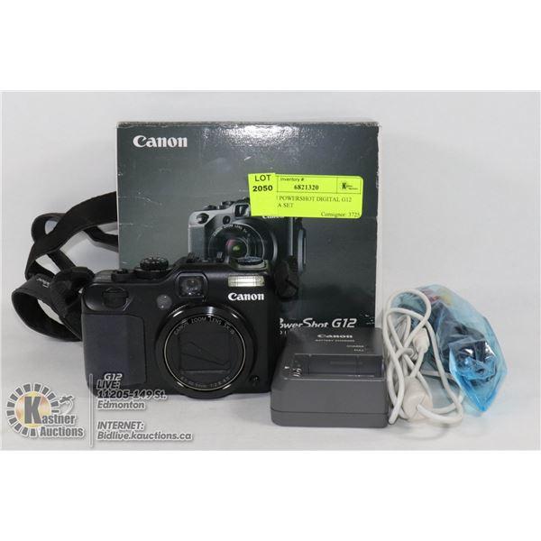 CANON POWERSHOT DIGITAL G12 CAMERA SET