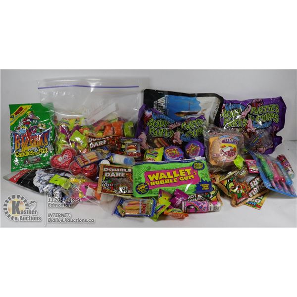 FLAT OF NOVELTY CANDY