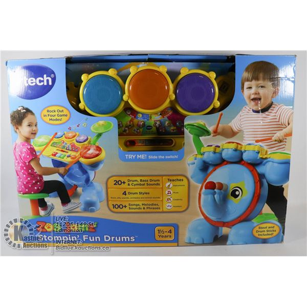 VTECH ZOO JANZ STOMPIN FUN DRUMS (NEW IN BOX)
