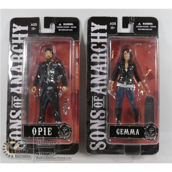 2 SONS OF ANARCHY COLLECTIBLE FIGURES