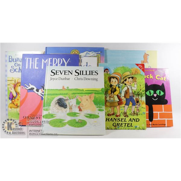 FLAT OF BOOKS,THE BUMP,IRISH LEGENDS FOR CHILDREN SOME POP UP BOOKS,THE MERRY CHASE ETC