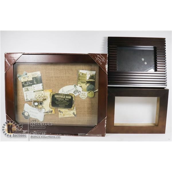 NEW MOMENTO SHADOW BOX WITH 2 DECORATIVE FRAMES