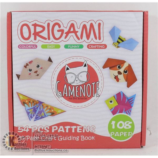 ORIGAMI SET 54 PCS PATTERNS, 55 PAGE CRAFT GUIDE