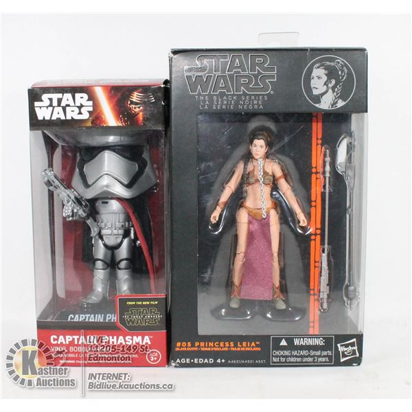 LOT OF STAR WARS COLLECTIBLES INCLUDES PRINCESS LEIA  FIGURE