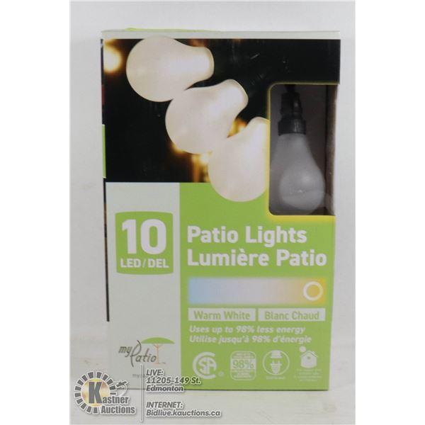 NEW 10 LED PATIO LIGHTS