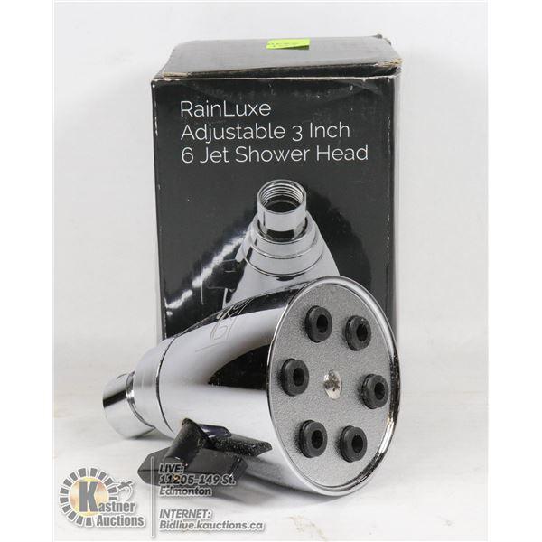 RAINLUXE ADJUSTABLE 3 INCH 6 JET SHOWER HEAD