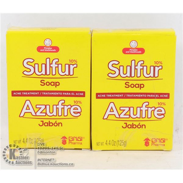 LOT OF TWO SULFUR SOAP ACNE TREATMENT