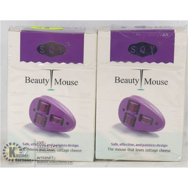 LOT OF 2 SQY BEAUTY MOUSE