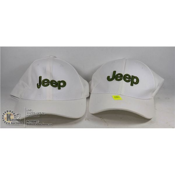 LOT OF 2 JEEP HATS