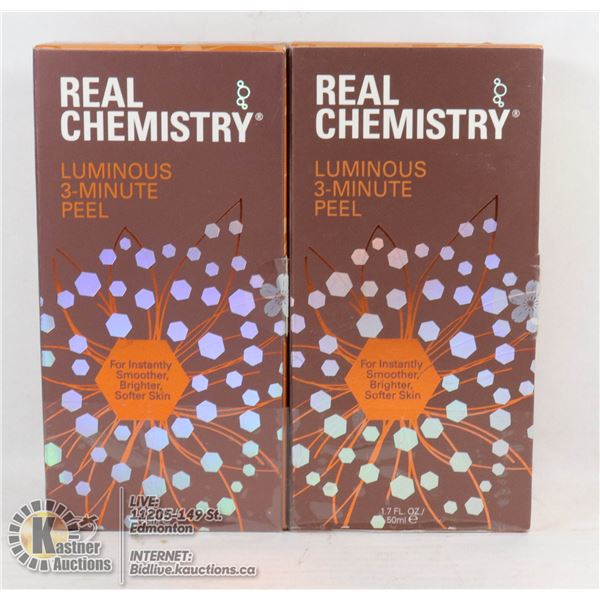 REAL CHEMISTRY LUMINOUS 3-MINUTE PEEL 1.7 FL OZ