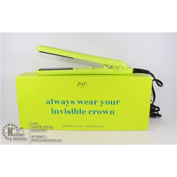 PRETTY YOUNG THING CERAMIC STYLING TOOL PINEAPPLE PIZZAZZ