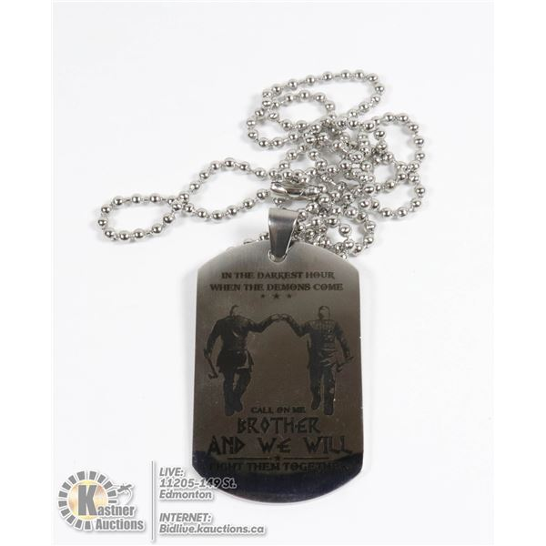 """""""WHEN THE DEMONS COME"""" PENDANT WITH CHAIN"""