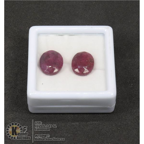 #231-RED BERYLE GEMSTONES 14.70ct JEWELRY/ COLOUR ENHANCED/ OVAL
