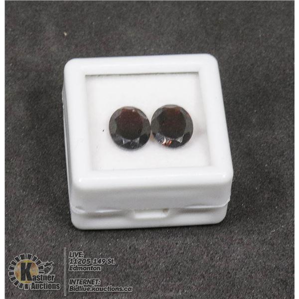 #199-DARK RED GARNET GEMSTONES 8 x 10mm 5.45ct JEWELRY/ UNTREATED/ OVAL
