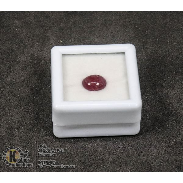 #207-RED RUBY GEMSTONE 2.0ct JEWELRY/ TREATED/ CABOCHON