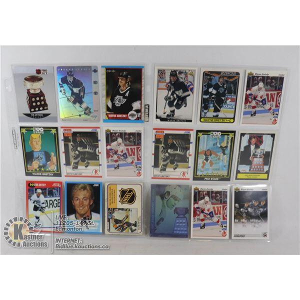 x18 WAYNE GRETZKY COLLECTORS HOCKEY CARDS