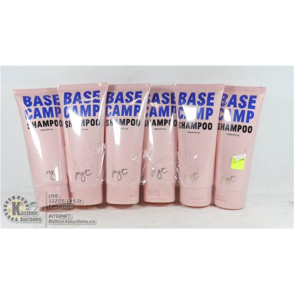 LOT OF 6 PRETTY YOUNG THING BASE CAMP SHAMPOO 150ML EACH