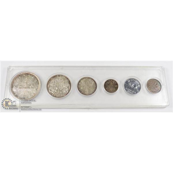 1953 SILVER CANADA 6 COIN SET IN CAPSULE