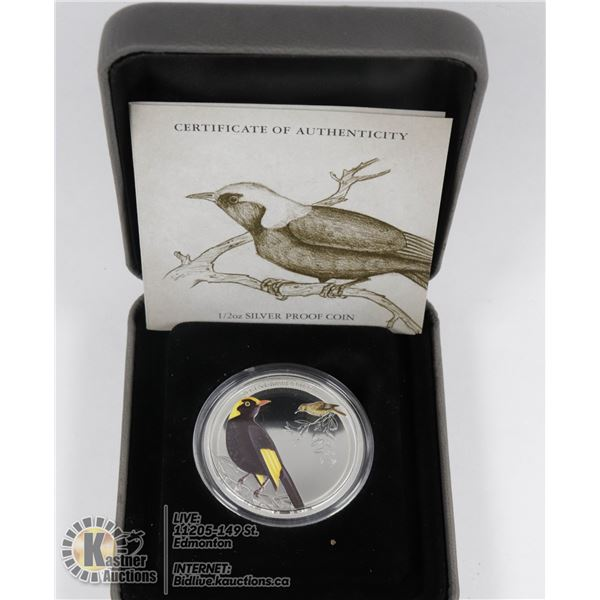 2013 FINE SILVER 1/2oz AUSTRALIA COLOURED PROOF CO MINT SEALED, MINT ISSUED