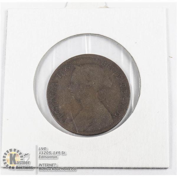 1861 NOVA SCOTIA LARGE 1 CENT COIN