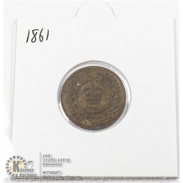 1861 NOVA SCOTIA 1/2 PENNY COIN