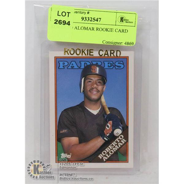 ROBERTO ALOMAR ROOKIE CARD BLUE JAYS HOF MEMBER 1988 TOPPS CARD #4T- NONE