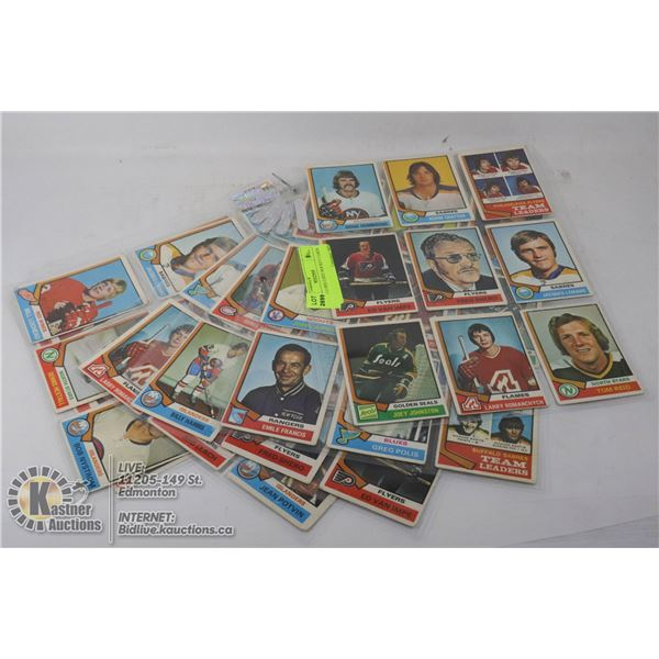 1974-75 O-PEE-CHEE HOCKEY CARDS 6 SHEETS WITH 54 CARDS- NONE