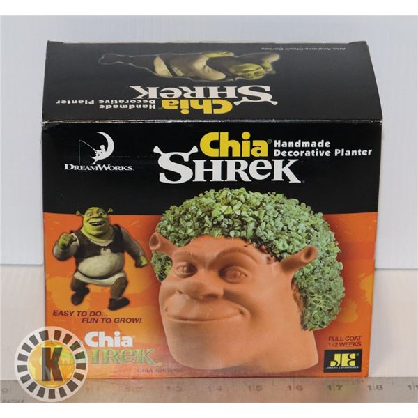 SHREK CHIA PET SET SEED PACKAGE DAMAGED AND PUT IN SANDWICH BAG