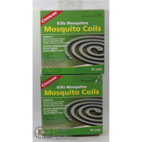 NEW COGHLANS MOSQUITO COILS *** 20 COILS TOTAL***