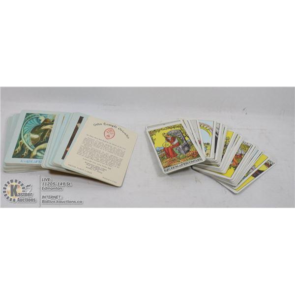 2 SETS OF VINTAGE TAROT CARD SETS