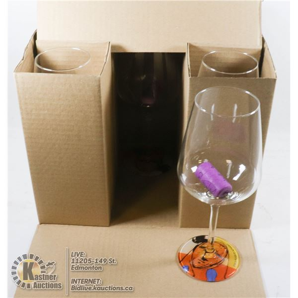 SET OF 6 NEW CRYSTAL WHINE GLASSES