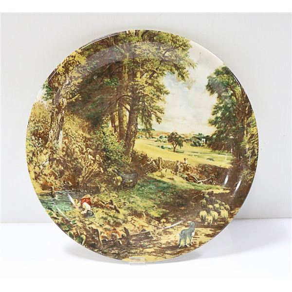 THE CORNFIELD BY JOHN CONSTABLE WALL PLATE REPRODUCTION OF A MASTERPIECE THAT HANGS IN THE NATIONAL
